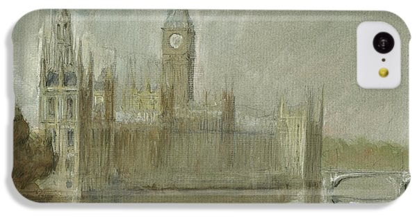 Westminster Palace And Big Ben London IPhone 5c Case by Juan Bosco