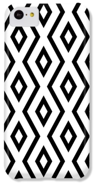 White And Black Pattern IPhone 5c Case by Christina Rollo