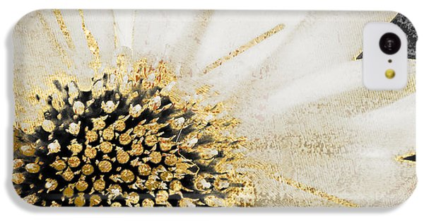 White And Gold Daisy IPhone 5c Case by Mindy Sommers