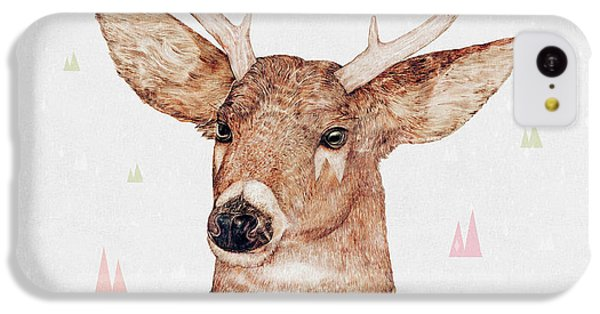 White Tailed Deer Square IPhone 5c Case by Animal Crew