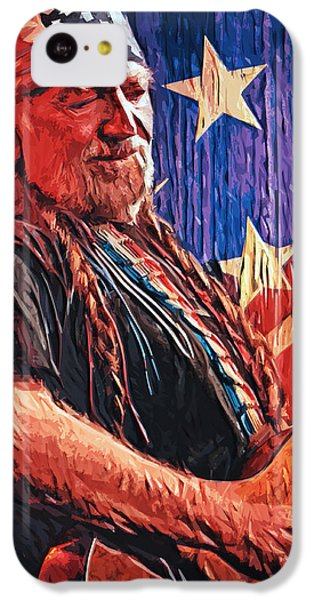 Willie Nelson IPhone 5c Case by Taylan Apukovska
