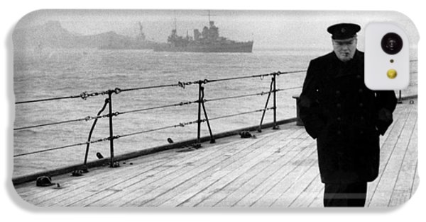 Winston Churchill At Sea IPhone 5c Case by War Is Hell Store