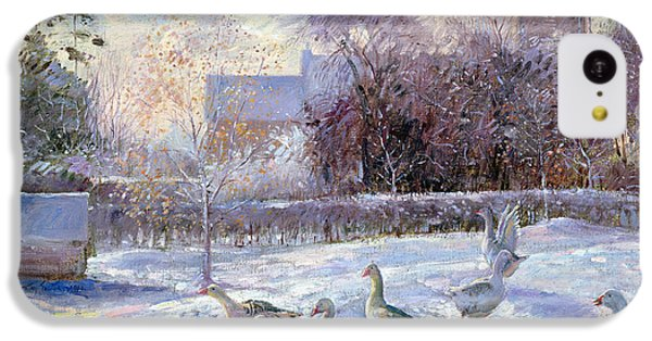 Winter Geese In Church Meadow IPhone 5c Case by Timothy Easton