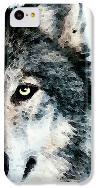 Wolf Art - Timber IPhone 5c Case by Sharon Cummings
