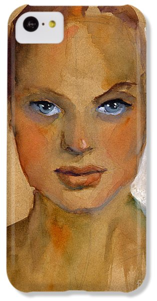 Woman Portrait Sketch IPhone 5c Case by Svetlana Novikova