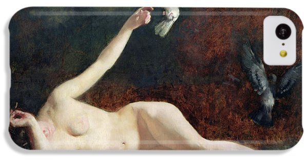 Woman With Pigeons IPhone 5c Case by Ernst Philippe Zacharie