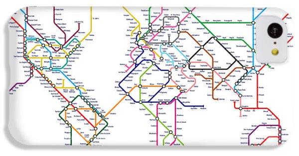 World Metro Tube Map IPhone 5c Case by Michael Tompsett