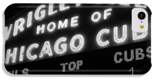 Wrigley Field Sign Black And White Picture IPhone 5c Case by Paul Velgos