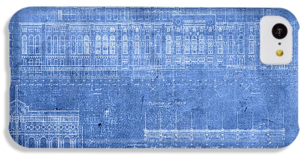 Yankee Stadium New York City Blueprints IPhone 5c Case by Design Turnpike