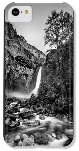 Yosemite Waterfall Bw IPhone 5c Case by Az Jackson