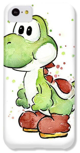 Yoshi Watercolor IPhone 5c Case by Olga Shvartsur