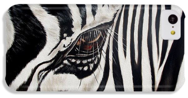Zebra Eye IPhone 5c Case by Ilse Kleyn