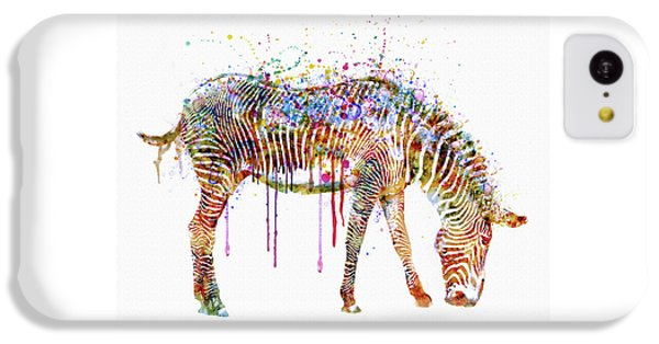 Zebra Watercolor Painting IPhone 5c Case by Marian Voicu