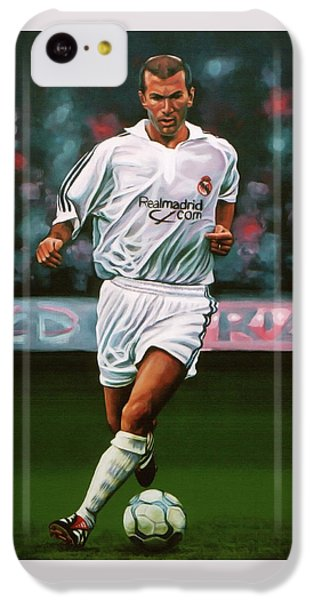 Zidane At Real Madrid Painting IPhone 5c Case by Paul Meijering