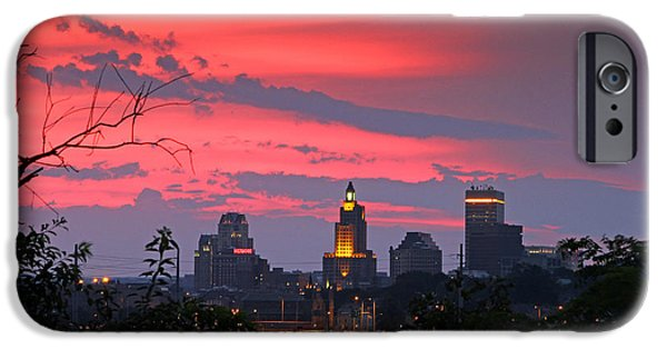 Best Sellers -  - 4th July Photographs iPhone Cases -                                                       4th of July Sunset Providence RI iPhone Case by Butch Lombardi