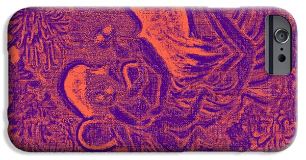 Baby Bird Pastels iPhone Cases -             Angels Making The Flowers Bloom              iPhone Case by Lyn Blore Dufty