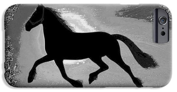 Multimedia Mixed Media iPhone Cases -    If mind is a horse you need your heart and soul to control it for the right pace and direction  S iPhone Case by Navin Joshi