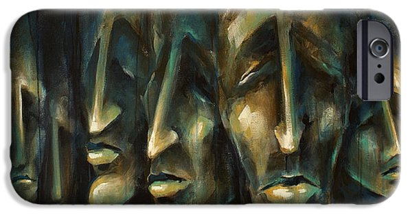 Featured Paintings iPhone Cases -   Jury of Eight  iPhone Case by Michael Lang