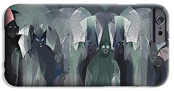 Ghastly iPhone Cases -   001 - Nightwalkers dark ... iPhone Case by Irmgard Schoendorf Welch