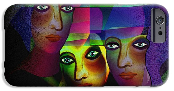 Irmgard iPhone Cases -  008 - Three Sisters in Pride  iPhone Case by Irmgard Schoendorf Welch