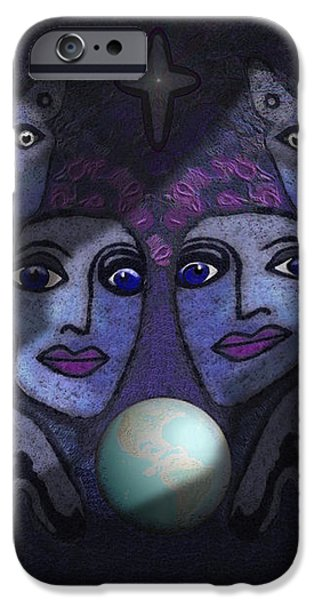 062 - Demons B iPhone Case by Irmgard Schoendorf Welch