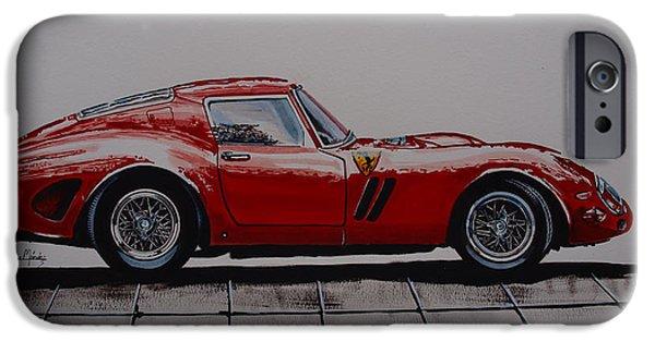 Ferrari 250 Gto iPhone Cases -  250gto  iPhone Case by Juan Mendez