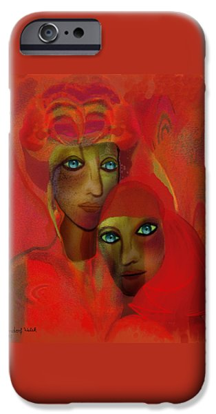 Irmgard iPhone Cases -   260 - Women in red ... iPhone Case by Irmgard Schoendorf Welch