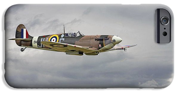 Classic Aircraft iPhone Cases -  317 Sqdn Spitfire iPhone Case by Pat Speirs