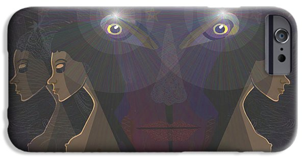 Lucifer iPhone Cases -   464 - Virgins for Lucifer   iPhone Case by Irmgard Schoendorf Welch