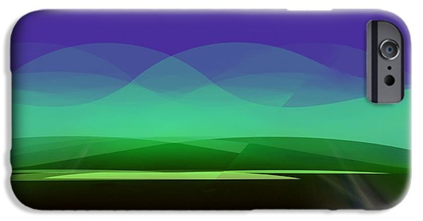Wall Greeting Cards Digital iPhone Cases -  819  -  in the Calm  of night   iPhone Case by Irmgard Schoendorf Welch