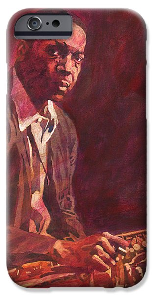 Famous Faces iPhone Cases -  A Love Supreme - Coltrane iPhone Case by David Lloyd Glover