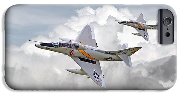 Carrier iPhone Cases -  A4 - Skyhawks iPhone Case by Pat Speirs