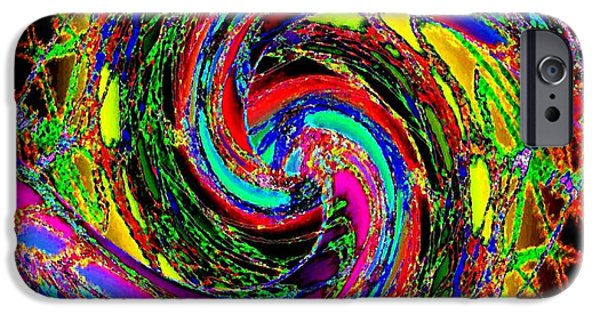 Abstract Fusion iPhone Cases -  Abstract Fusion 215 iPhone Case by Will Borden