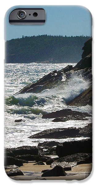 Sailboat Ocean iPhone Cases -   Acadia National Park  iPhone Case by Helene Guertin
