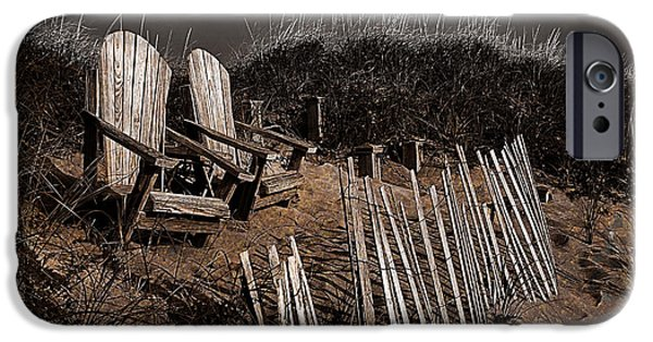 Newengland iPhone Cases -  Adirondack Beach Chairs  iPhone Case by Rick Mosher