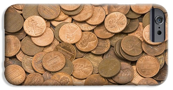 Banking iPhone Cases -  American Pennies iPhone Case by Keith Webber Jr