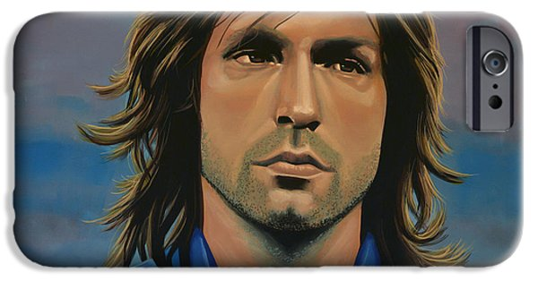 Fame iPhone Cases -  Andrea Pirlo iPhone Case by Paul Meijering