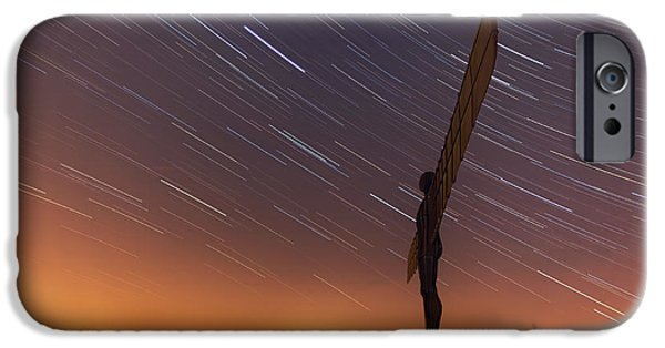 Night Angel iPhone Cases -  Angel of the Stars iPhone Case by Ray Pritchard
