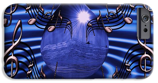 By Barbara St Jean iPhone Cases -  Angelic sounds on the waves iPhone Case by Barbara St Jean