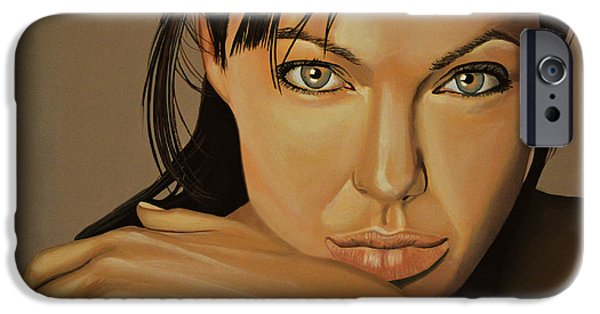 Tombs iPhone Cases -  Angelina Jolie Voight iPhone Case by Paul  Meijering