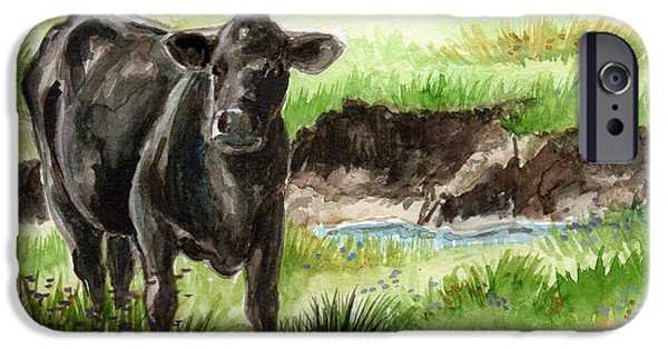 Llmartin iPhone Cases -  Angus iPhone Case by Linda L Martin