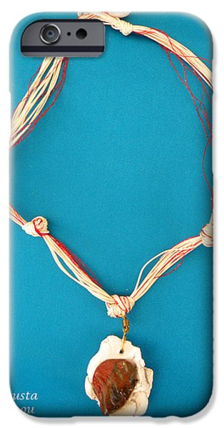 Sea Jewelry iPhone Cases -   Aphrodite Gamelioi Necklace iPhone Case by Augusta Stylianou