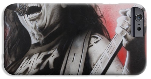 Celebrities Photographs iPhone Cases -  arhhhhhhhh iPhone Case by Christian Chapman Art
