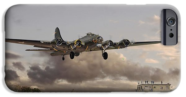 Classic Aircraft iPhone Cases -  B17- Airborne iPhone Case by Pat Speirs