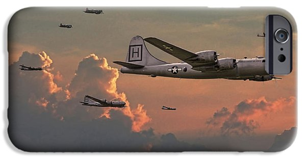 Classic Aircraft iPhone Cases -  B29 - Korea iPhone Case by Pat Speirs
