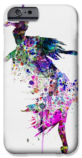 Ballet Digital Art iPhone Cases -  Ballet Watercolor 3 iPhone Case by Naxart Studio