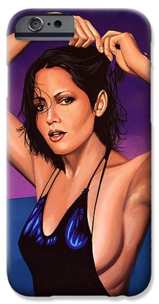 Barbara Carrera iPhone Case by Paul  Meijering