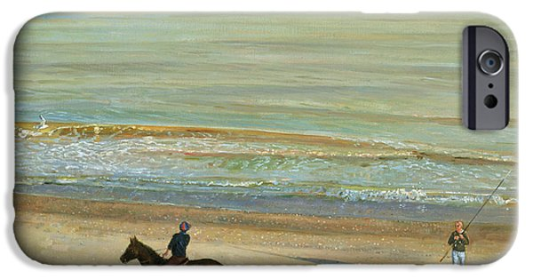 Beach Landscape iPhone Cases -  Beach Dialogue Dunwich iPhone Case by Timothy  Easton