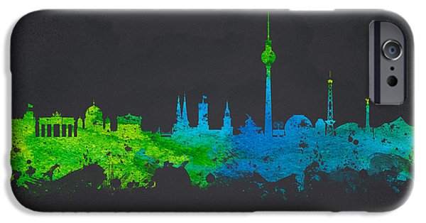 Skyscraper Mixed Media iPhone Cases -  Berlin Germany iPhone Case by Aged Pixel