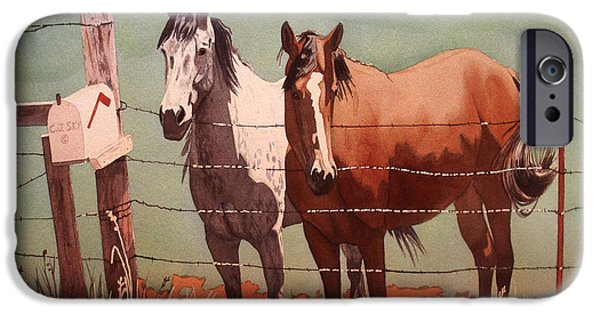 The Horse iPhone Cases -  BestFriends.jpg iPhone Case by Cj Sky
